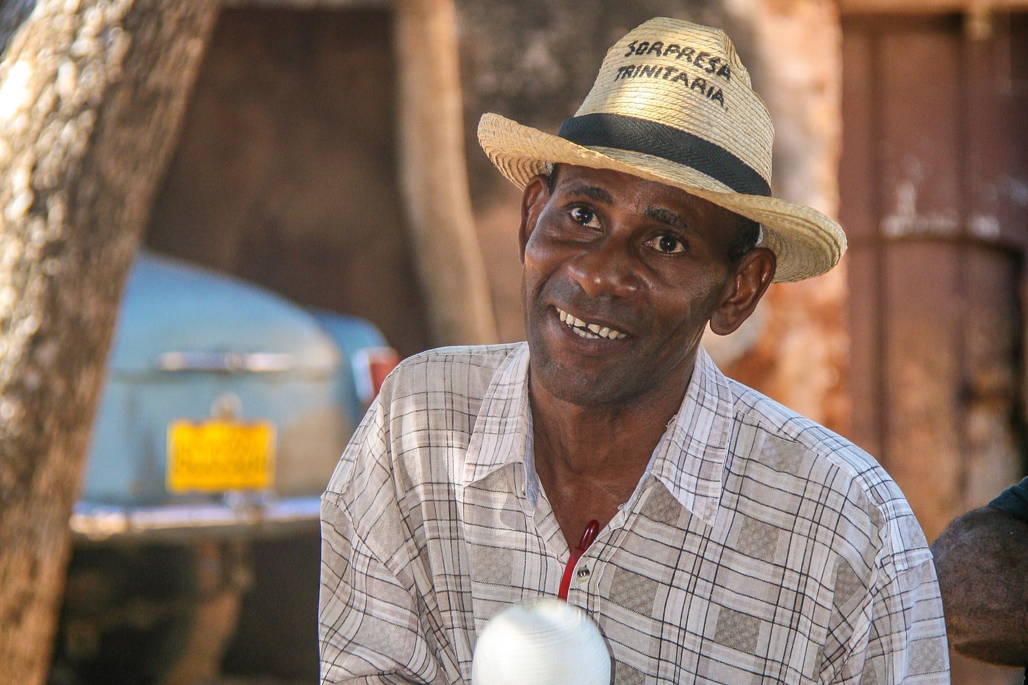 Ein Musiker in Trinidad