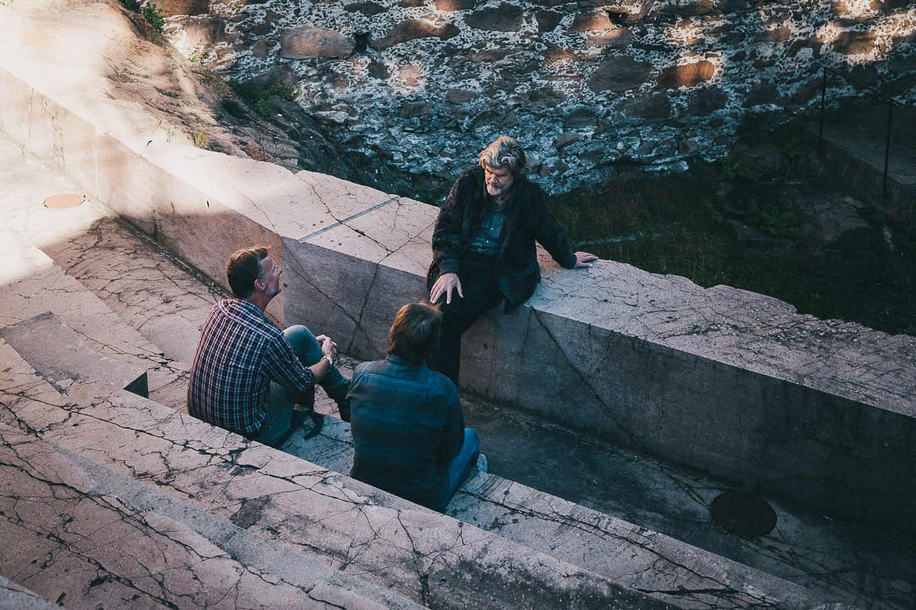 Reinhold Messner im Interview mit Jens Vögele und André Schmidt