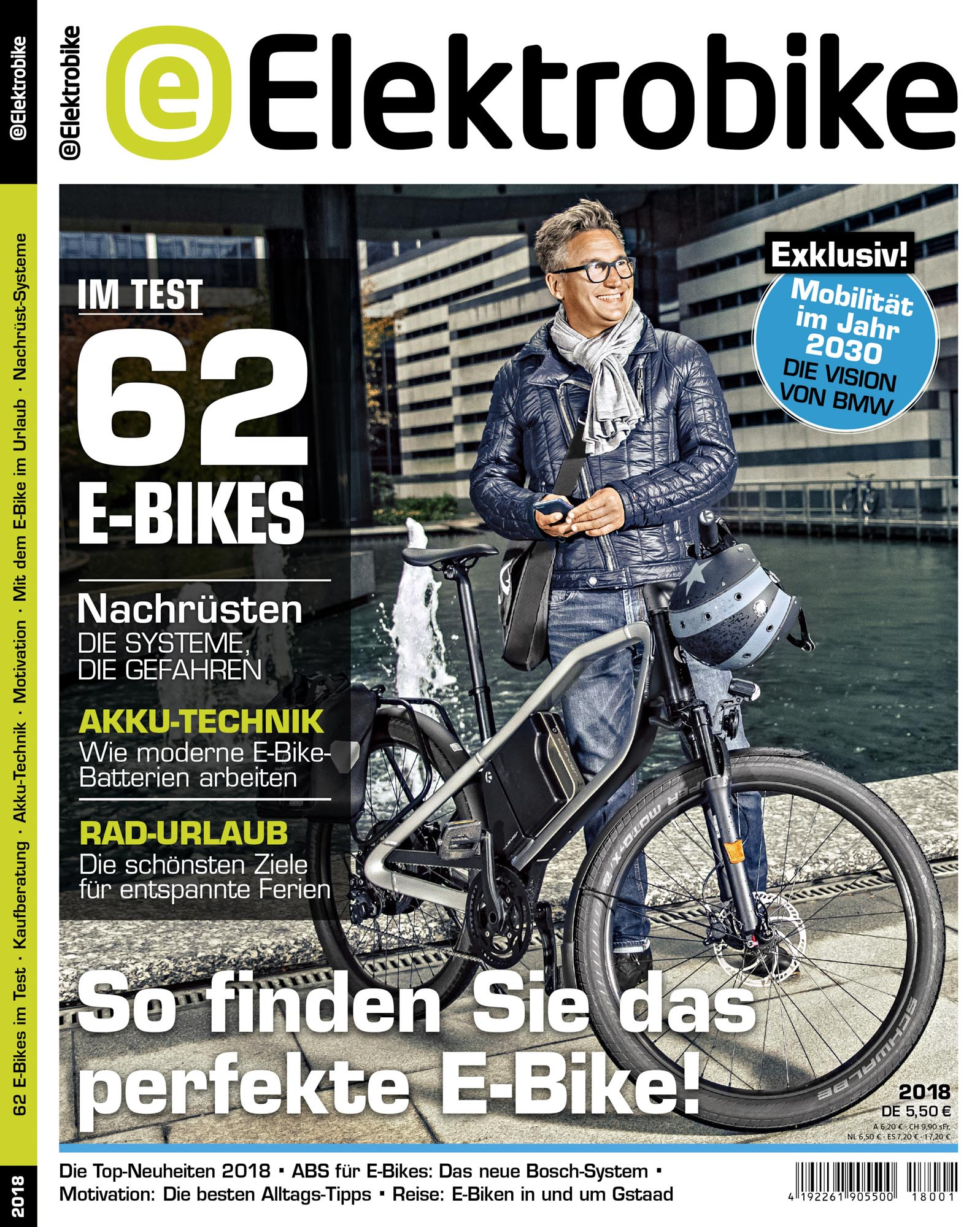 ELEKTROBIKE-Titelbild, Ausgabe 1/2018