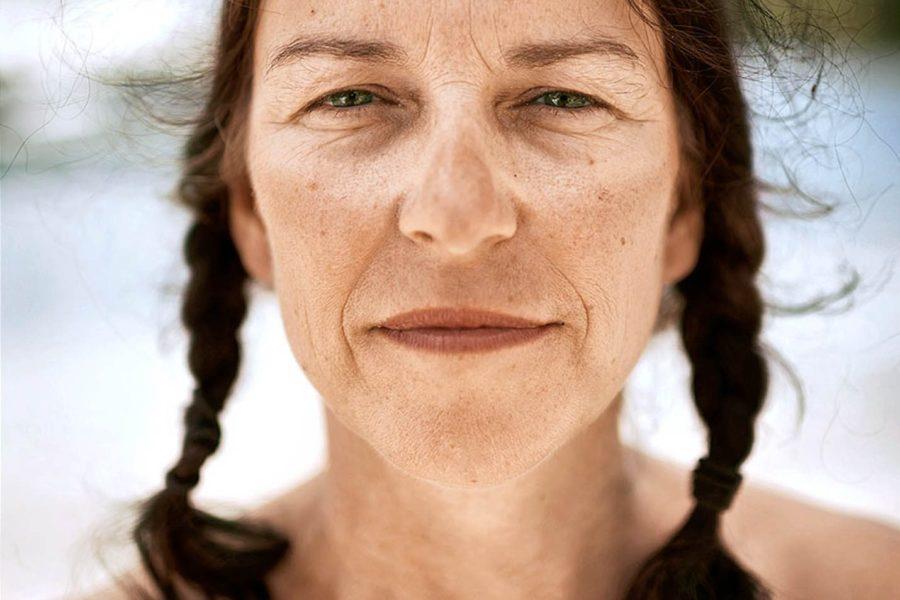 Frances Davies nach 67 Tagen im Ruderboot