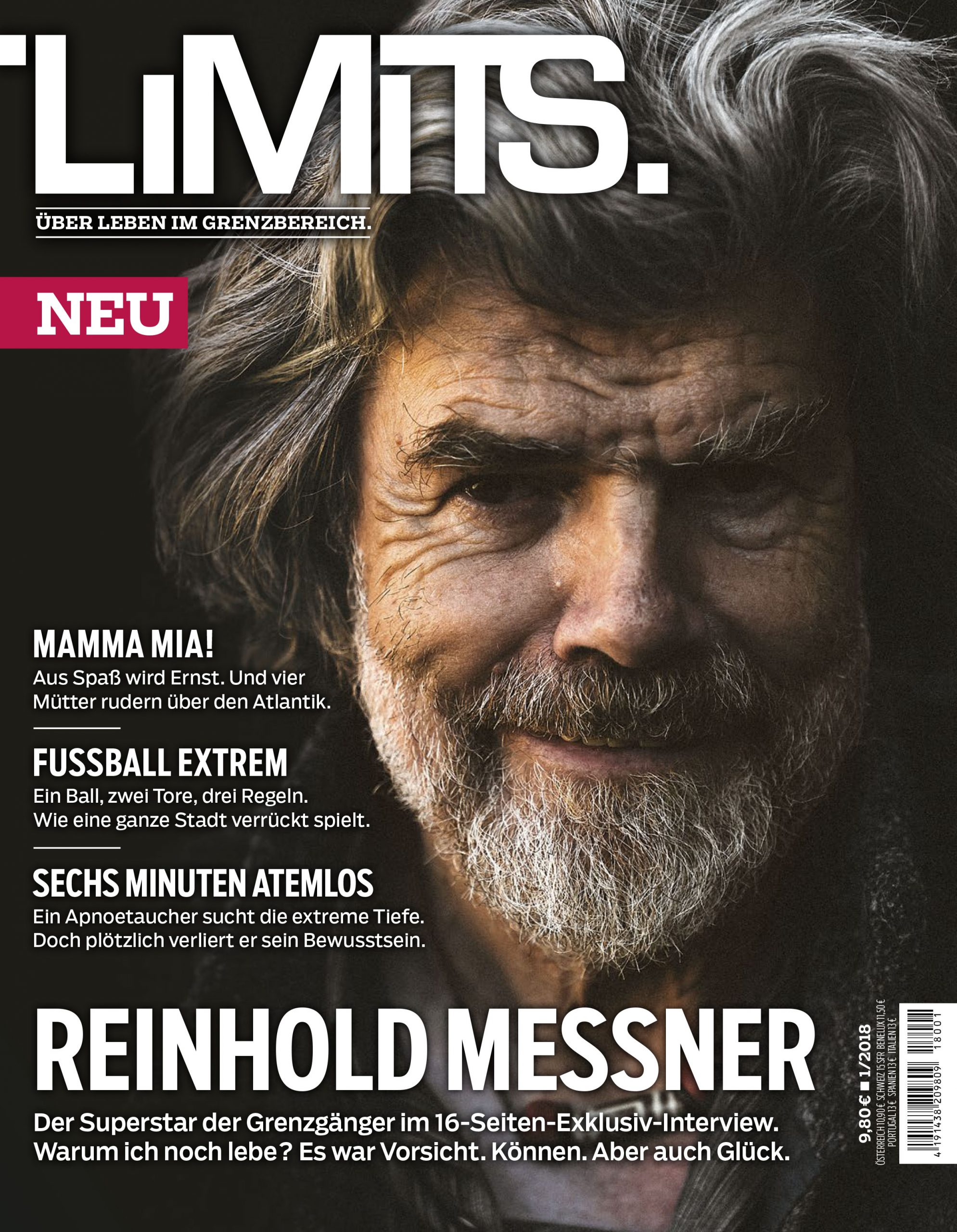 Titel Magazin LIMITS mit Porträt von Reinhold Messner