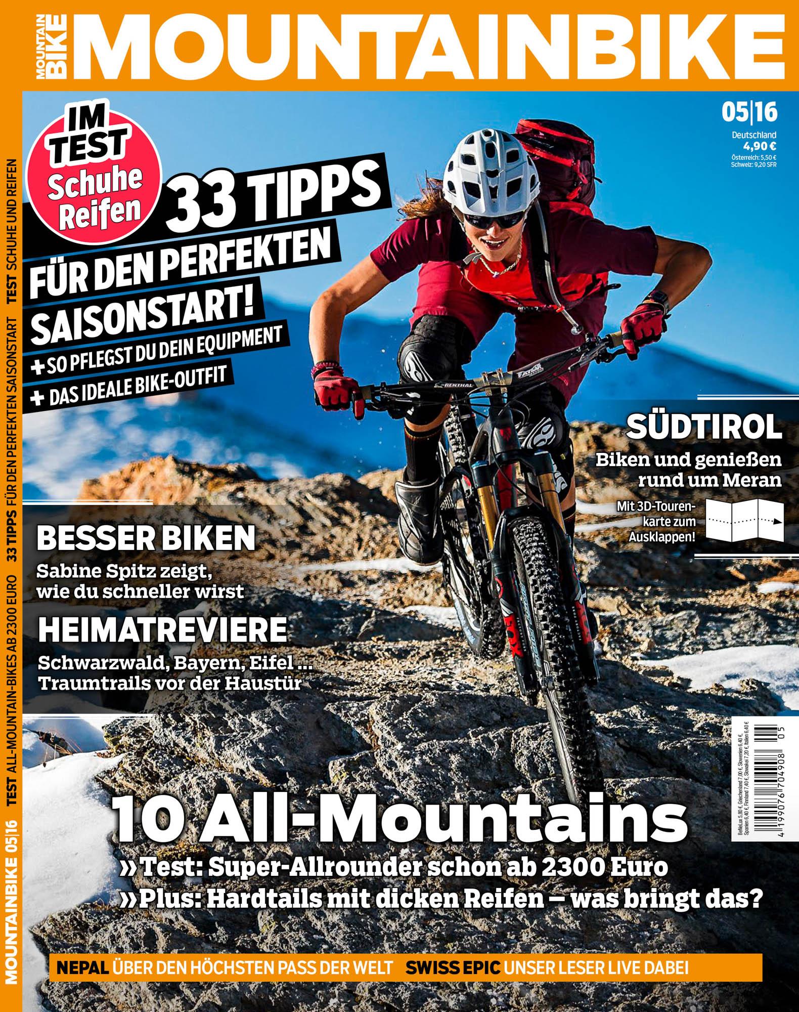 MOUNTAINBIKE-Titelbild, Ausgabe 5/2016