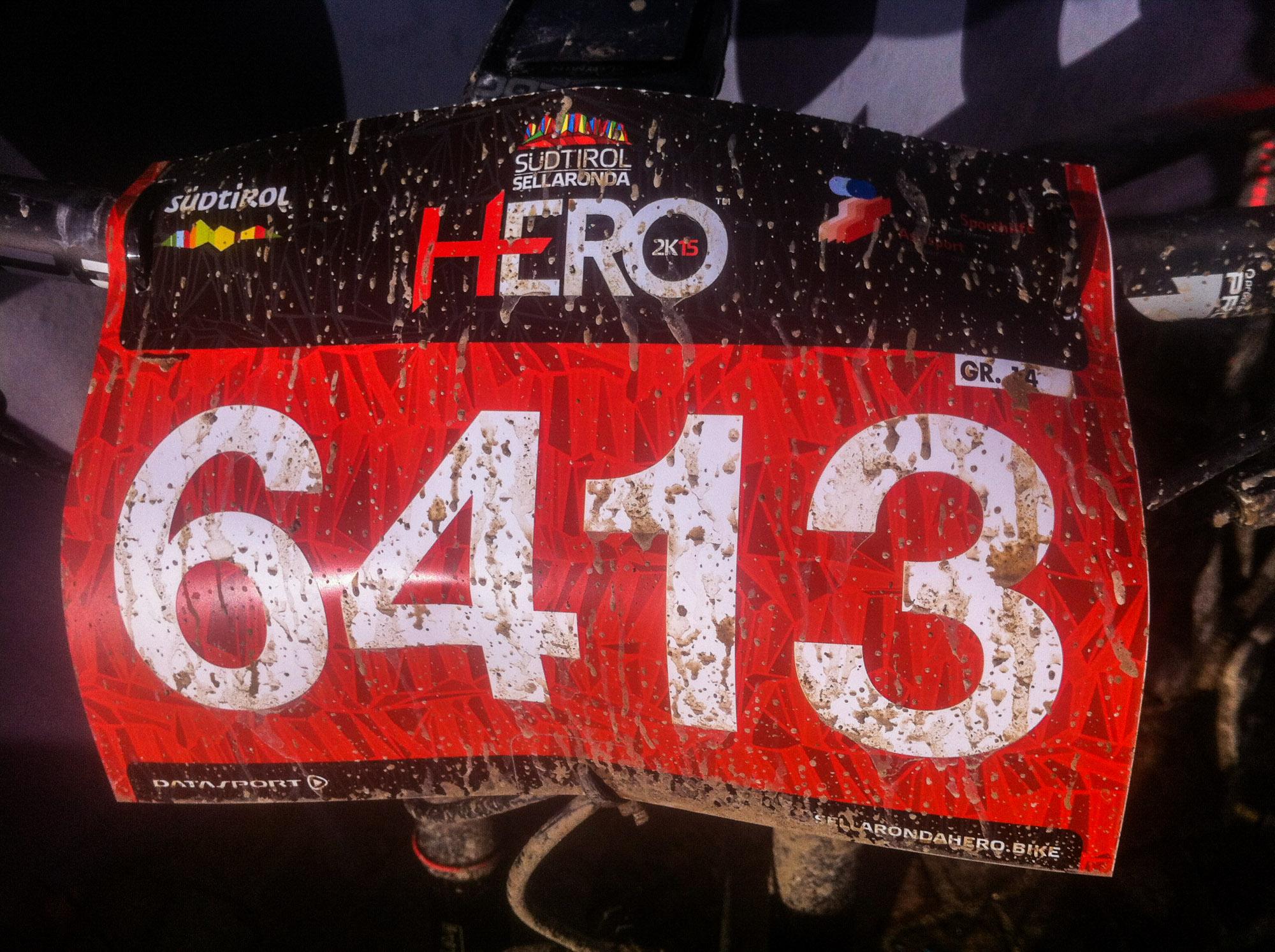 Meine Startnummer beim Sellaronda Hero.