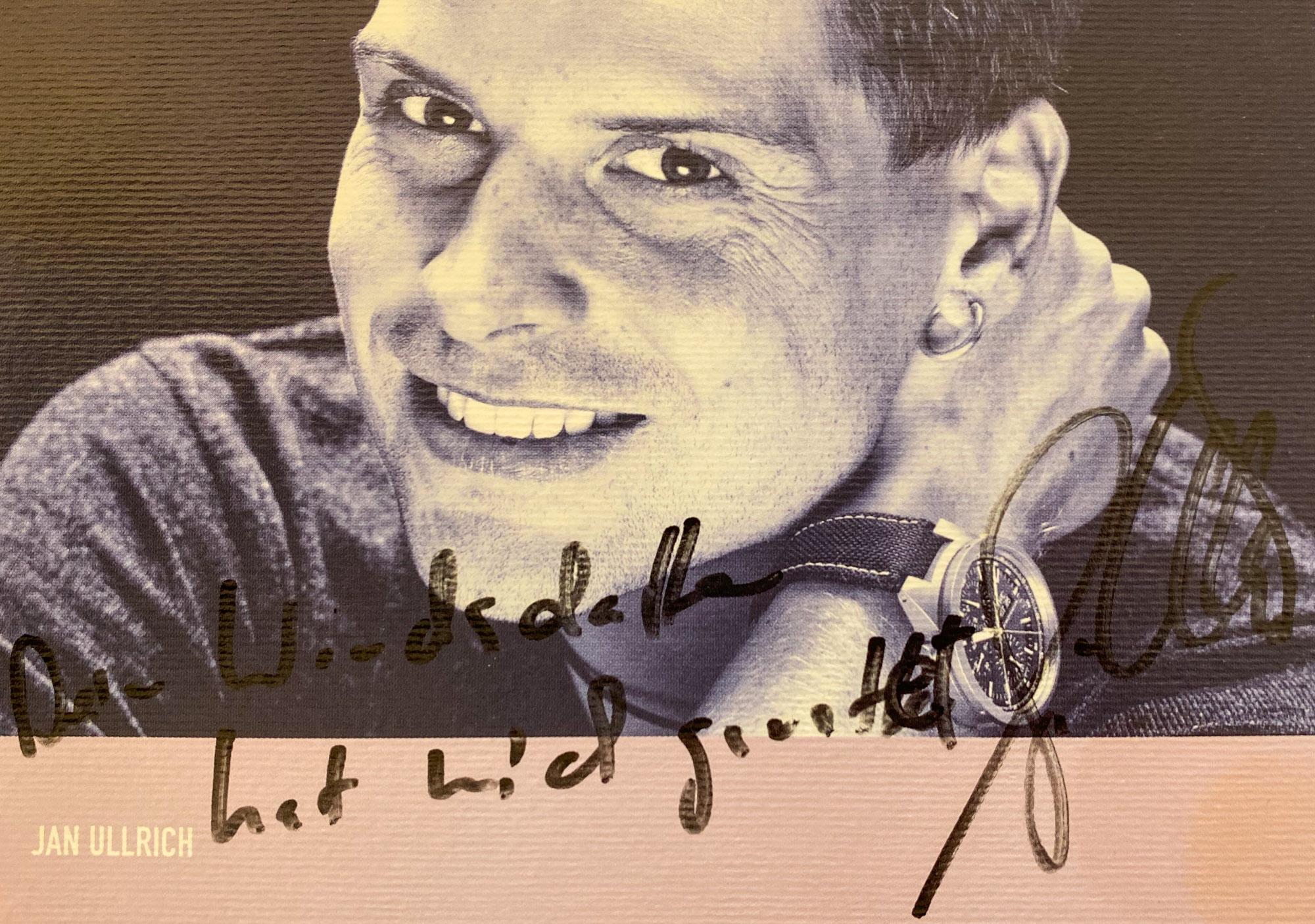 Ein Autogramm von Jan Ullrich