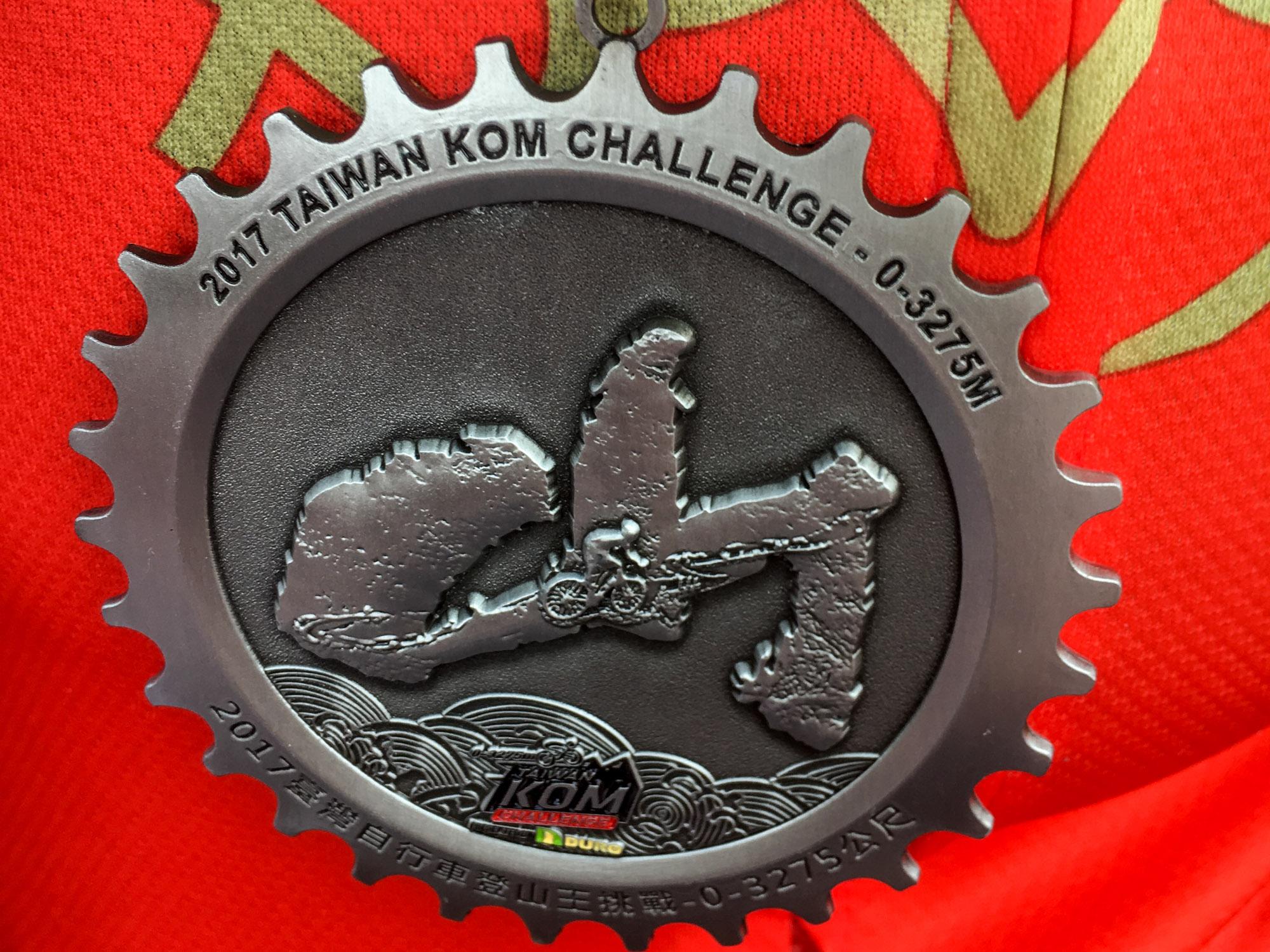 Die Medaille der Taiwan KOM Challenge