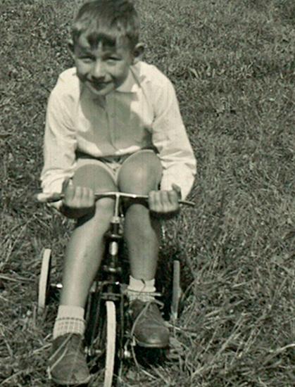 Max Hürzeler als Kind